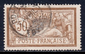 France (Offices in Port Said) - Scott #29 - Used - SCV $6.75
