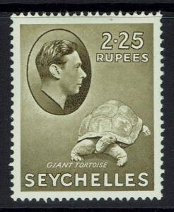 Seychelles SG# 148 - Chalk Paper - Mint Light Hinged - 090515