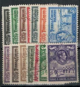 Turks and Caicos 1938-1945 SC 78-89 Used Set