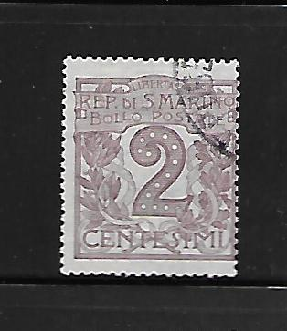 SAN MARINO  40  USED,  NUMERAL OF VALUE