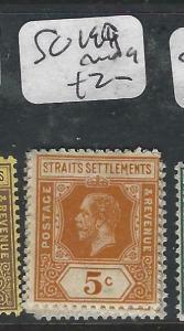 MALAYA  STRAITS SETTLEMENTS  (PP0906B)  KGV  5C  SG 199   MOG
