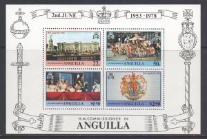 Anguilla Scott 318a, 1978 Coronation Anniversary Mini Sheet MNH**
