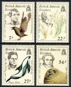 British Antarctic Territory 125-128, MNH. Naturalists, endangered species, 1985