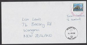 NEW ZEALAND FORCES IN EAST TIMOR 2001 cover via Australia to NZ.............K219