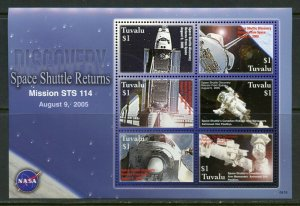 TUVALU SPACE SHUTTLE RETURNS MISSION STS 114  SHEET MINT NEVER HINGED