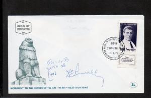 Israel Scott #401 Tel Hai Memorial FDC with Signature of Menachem Begin!!