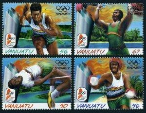 Vanuatu 768-771,MNH. Olympics Sydney-2000.Runner,Weight lifter,High jumper,Boxer