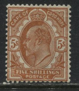 Cape of Good Hope KEVII 1902 5/ orange mint o.g.