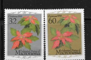 MICRONESIA, 234-235, MNH, CHRISTMAS '95