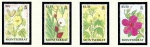 Montserrat 840-43 MNH 1994 Flowers                  (KA)