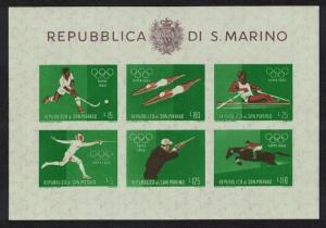 San Marino Hockey Swimming Rowing Fencing Shooting Olympic Games 1960 MS