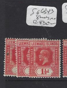 LEEWARD ISLANDS (P1610B)  KGV  1  1/2D  SG 63X3  SHADES   MOG