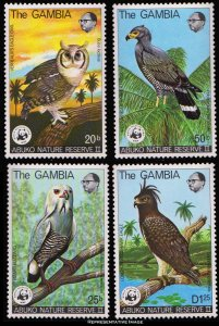 Gambia Scott 381-384 Mint never hinged.