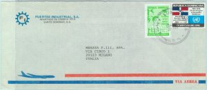 84271 - DOMINICANA - POSTAL HISTORY - COVER to ITALY 1979 - UNO United Nations