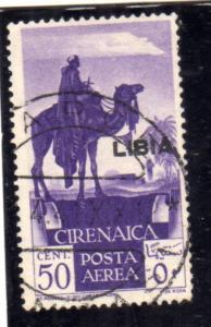 LIBIA 1936 POSTA AEREA AIR MAIL SOPRASTAMPATO DI CIRENAICA OVERPRINTED CENT. ...
