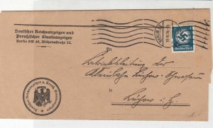Berlin 1934 Official Stamp Wrapper  Ref 31005