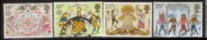 Great Britain Sc 933-6 1981 Europa Valentine stamps used