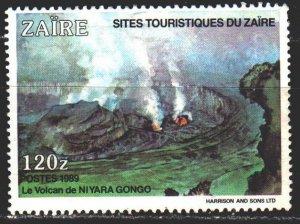 Kinshasa. 1990. 1042 from the series. Volcano. MLH.