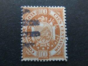 A4P31F47 Bolivia 1894 100c used