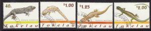 TOKELAU ISLANDS SG314/7 2001 LIZARDS FINE USED