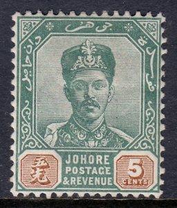 Malaya (Johore) - Scott #42 - MH - Bump on hinge - SCV $2.40