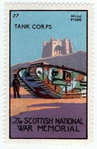 (I.B) Cinderella Collection : The Scottish War Memorial (Tank Corps)