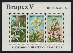 Brazil Flowers Orchids MS SG#MS1949 SC#1792
