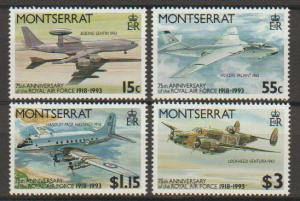 Montserrat SG 922 - 925 set of 4  MLH - Aircraft