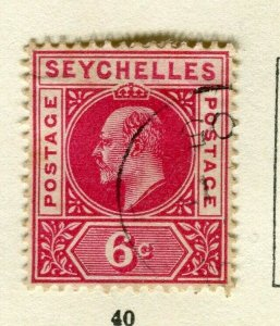 SEYCHELLES; 1906 early ED VII issue fine used 6c. value