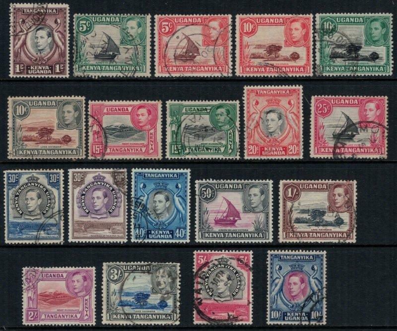 Kenya, Uganda & Tanganyika #66-84  CV $46.25