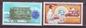 J22312 Jlstamp 1974 dahomey hv,s of set mnh #c223-4 transportation