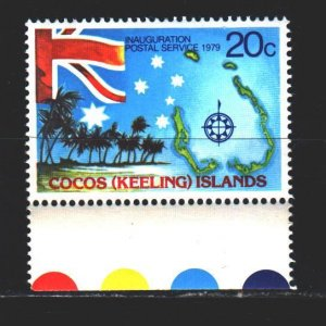 Cocos Islands. 1979. 32 of the series. Flag, constellation of the southern cr...