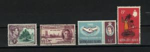 Gilbert & Ellice 4 different Mint & used PD