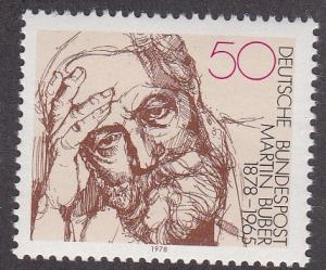 Germany # 1268, Martin Buber - Writer, NH, 1/2 Cat.