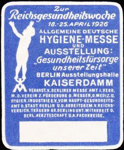 Germany  Berlin German Health Week Label Unused no gum.