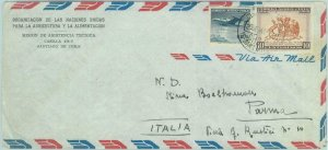 84254 -  CHILE -  POSTAL HISTORY -   AIRMAIL COVER  to ITALY  1961