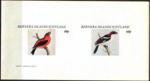{B193} Bernera Scotland Birds (7) Sh.2 Imperf. MNH Cinderella !!
