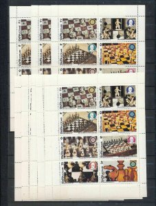 Staffa Scotland Chess Sheets MNH x 10 (MR 330