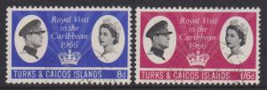 Turks and Caicos Sc#150-151 Used
