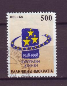 J6260 JL stamps 1998 greece used #1904 hv set design