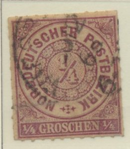 North German Confederation Stamp Scott #1, Used - Free U.S. Shipping, Free Wo...