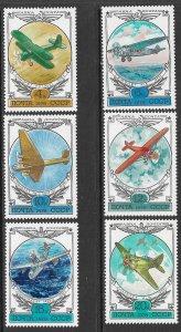 RUSSIA USSR 1978 AIRCRAFT Airmail Set Sc C115-C120 MNH