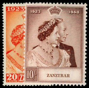 ZANZIBAR SG333-334, COMPLETE SET, NH MINT. Cat £25. RSW