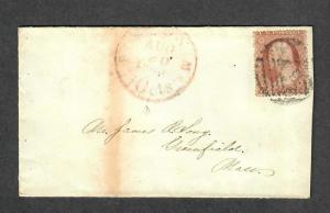 US Sc#26 Aug 20 1860 Boston Mass Canada Mail Cancel Scarce Cover