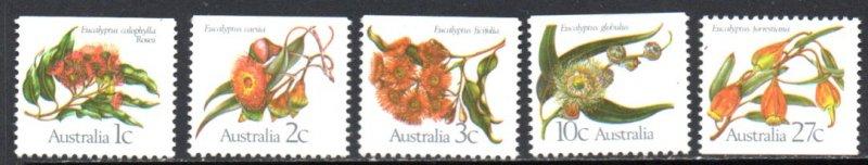 AUSTRALIA 848-52 MNH SCV $2.45 BIN $1.50 FLOWERS