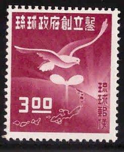 RYUKYU Scott 18 MH* 1952 stamp