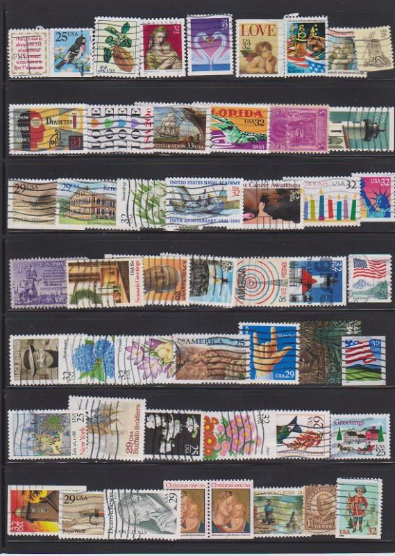 LOT OF DIFFERENT STAMPS OF USA USED (50) LOT#272