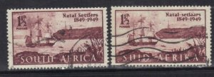 SOUTH AFRICA  SCOTT# 108  USED 1949