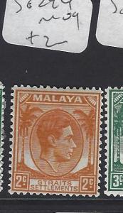 MALAYA STRAITS SETTLEMENTS (PP0510B)  KGVI  2C  SG 294      MOG