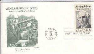1976, Adolph Simon Ochs, Artmaster, FDC (D14123)